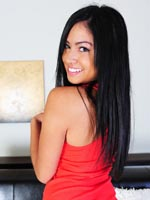 Cierra Spice In Red Dress